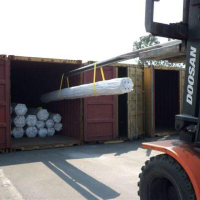 Forklift unstuffing